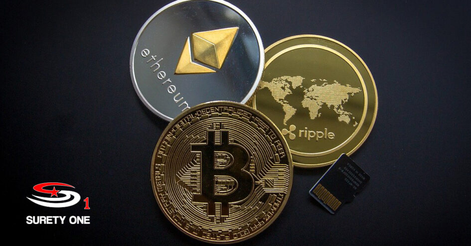 crypto, cryptocurrency, cryptocurrency bond, cryptocurrency surety bond, virtual currency, virtual currency bond, virtual currency surety bond, bitcoin, ethereum, dogecoin, surety, surety bond, surety bonds, suretyone.com, surety one;