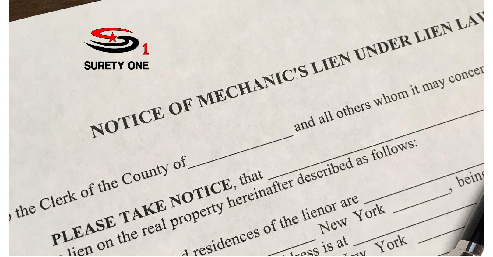 car lien release new jerseyNew York Mechanics Lien Release Bond  Surety One Inc