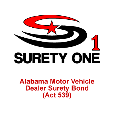 Alabama motor vehicle dealer surety bond act 539 for What is a motor vehicle bond